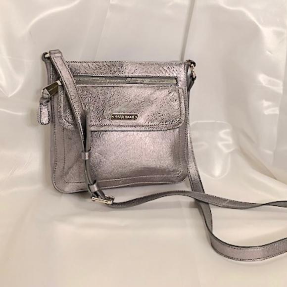 78655235fd Cole Haan Bags   Silver Leather Shoulder Bag   Poshmark